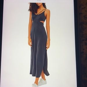 Topshop cutout side midi dress